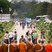 Posado de monjes en Ayutthaya