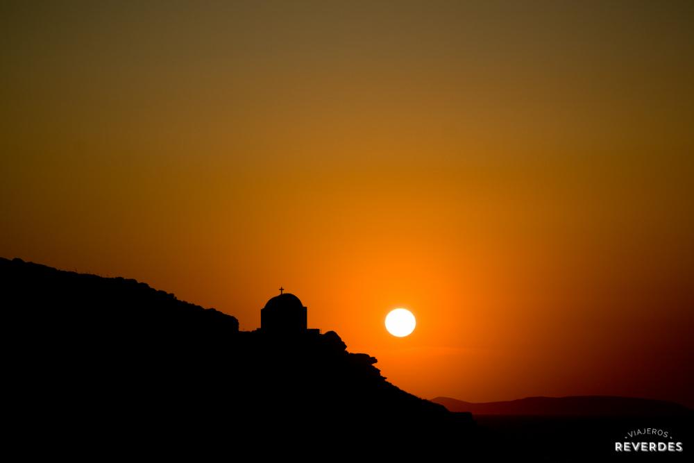 Puesta de sol en Amorgos