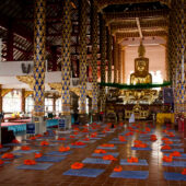 Sala de estudio y meditación en Wat Suan Dok