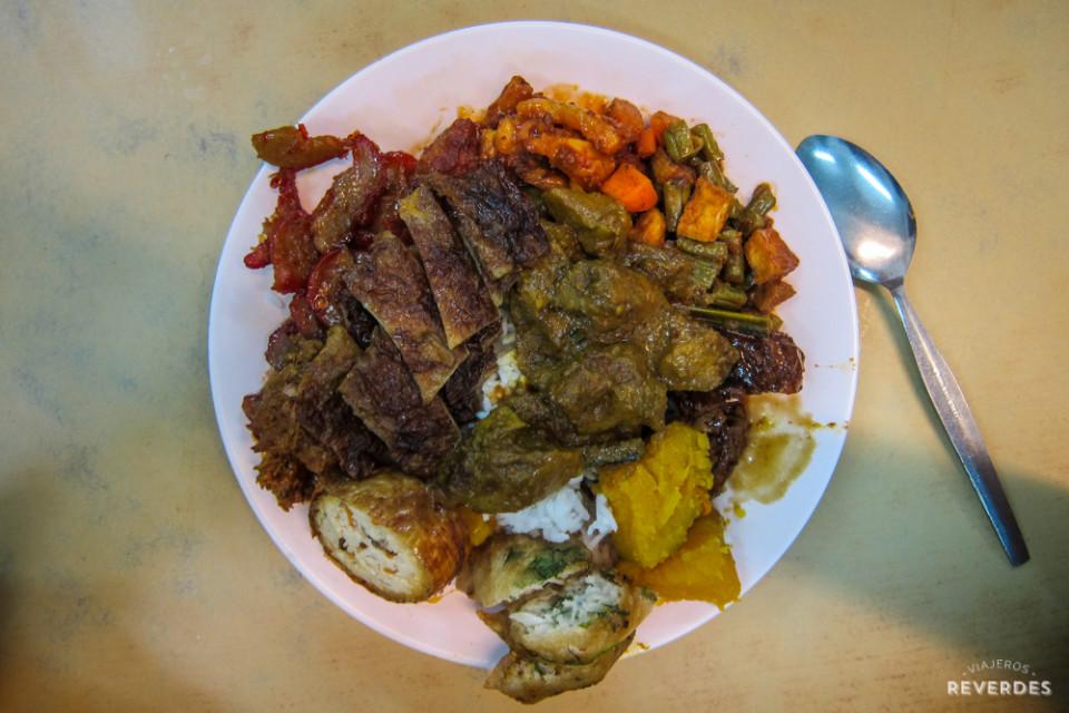 Buffet libre en Ee Beng Vegetarian Food, Penang
