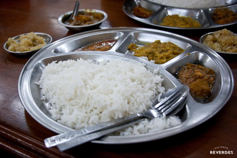 Comida india en Yangón