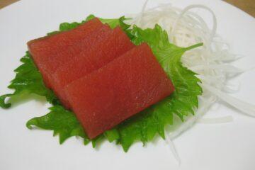 Sashimi vegano con sandía