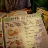 Hamburguesa vegana en Dada Cafe