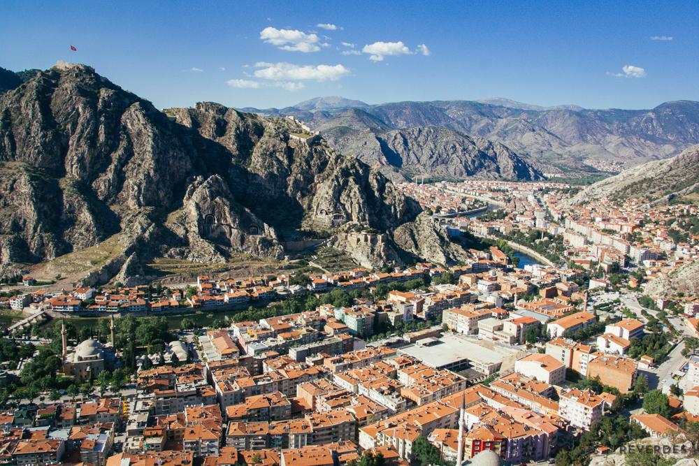 Vistas de Amasya desde el restaurante Ali Kaya