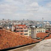 Vistas desde los tejados de Estambul