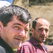 Hombres en Ushguli