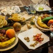 Comida de reyes en casas iranís
