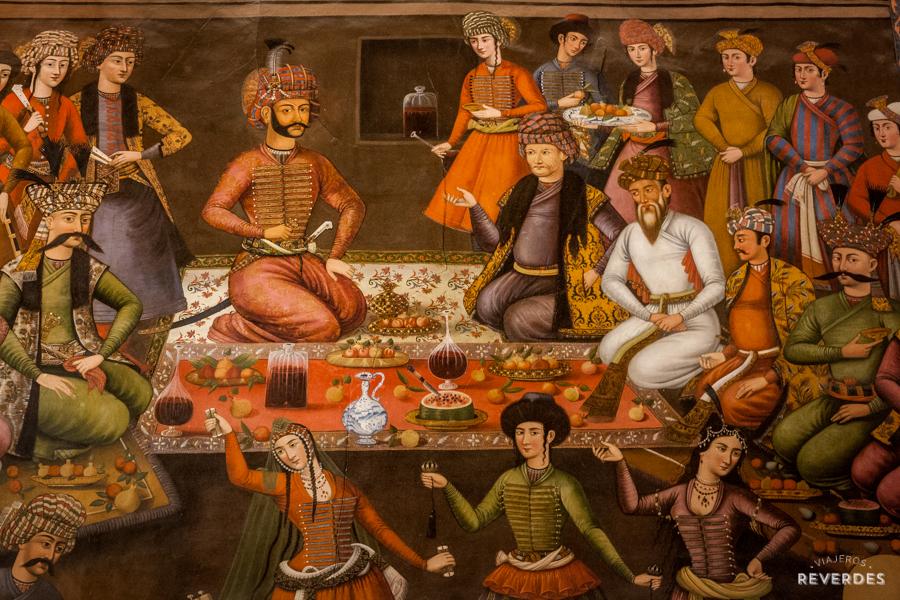 Festín de frutas en tiempos de reyes persas
