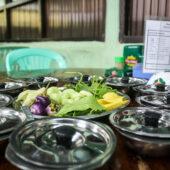 Festín vegano en el restaurante San Ma Tau de Hpa-An