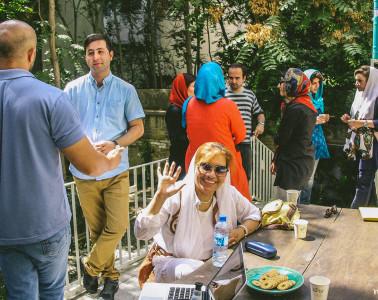 Encuentros con miembros del CS de Teherán