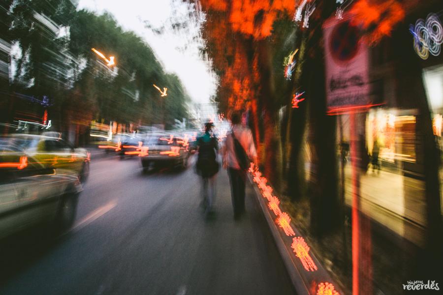 Tráfico en Teherán