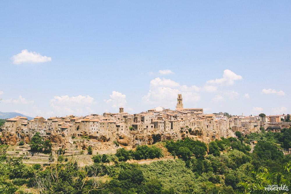Panorámica Pitigliano, Toscana, Italia