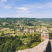 Vista desde Orvieto, Toscana, Italia