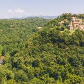 Vistas desde Pitigliano, Toscana, Italia