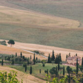 Vistas desde Pienza, Toscana, Italia