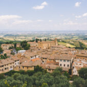 Vistas desde San Gimignano, Toscana, Italia