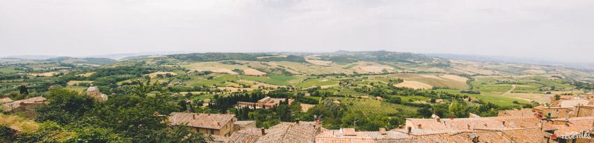 Panorámica Montepulciano, Toscana, Italia