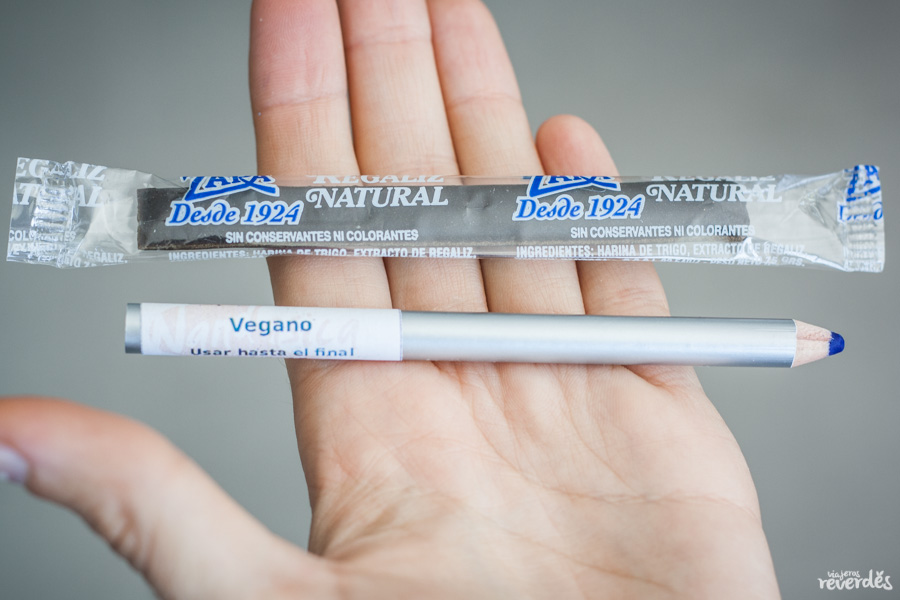 Regaliz y lápiz vegano neceser natural de viaje