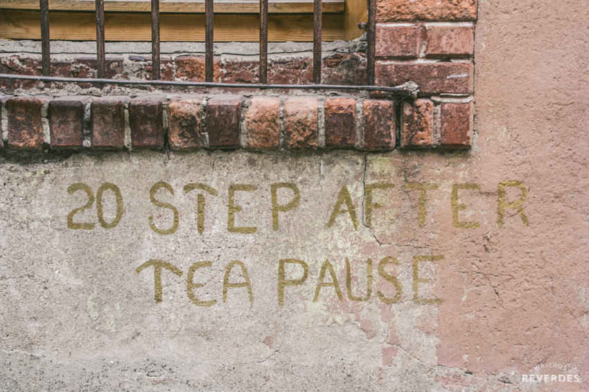 20 pasos, después una pausa para el té