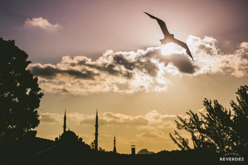 Atardecer sobre Estambul