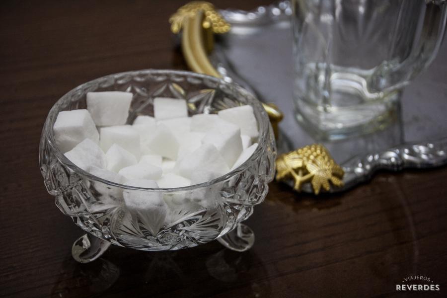 Terrones de azúcar para el té