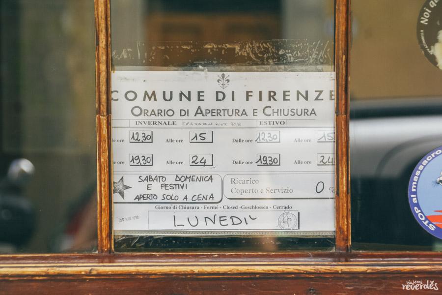 Horarios Il Vegetariano, Florencia, Italia