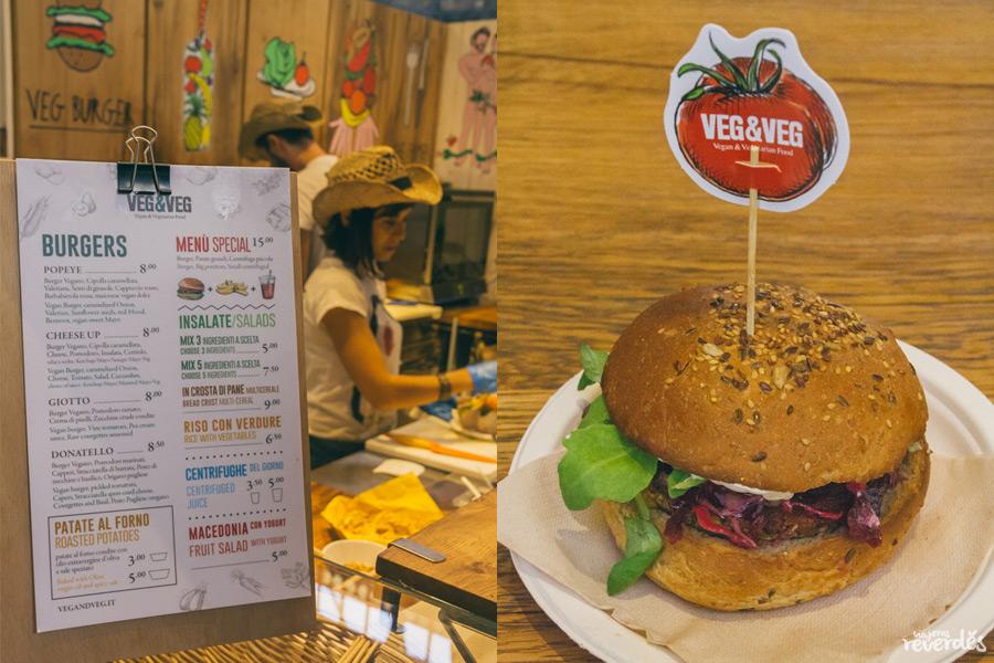 Hamburguesa vegetariana Veg&Veg (Mercado Central), Florencia, Italia